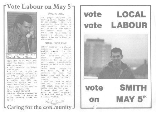 My first election leaflet, bashed out on an Amstrad 8256